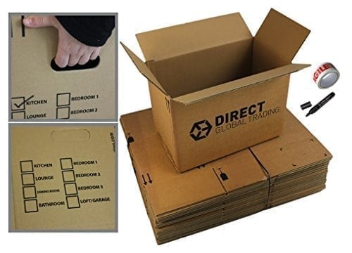 10 Strong Cardboard Storage Packing Moving House Boxes