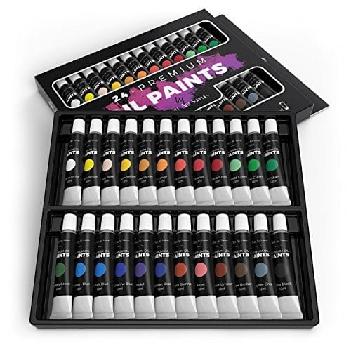 Castle art supplies oil paint set for artists or beginners for Professional painting supplies